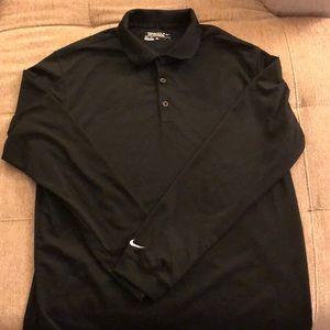 Men's long sleeve Nike golf polo